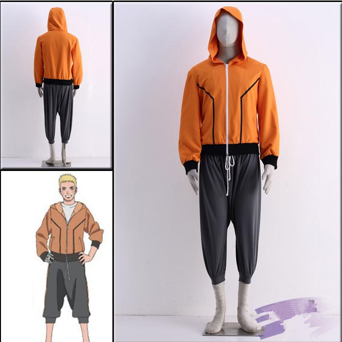 Anime The Last Uzumaki Naruto Father Version Cosplay Costume Full Set