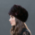 LTGFUR Chapéus das Mulheres Chapéu Feminino Chapéu de Malha Gorro de Pele De Vison Inteiro Tampão Feito Malha Inverno mulher Coube Chapéus Moda Formal Para As Mulheres WZD-02