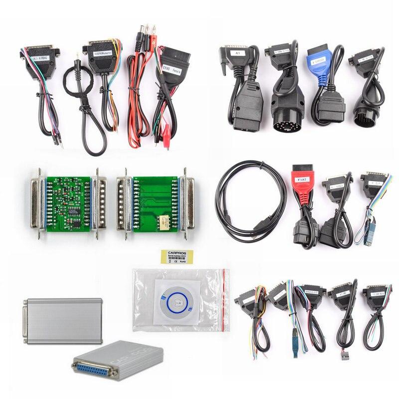 imágenes para Versión en línea V8.21 Carprog ECU Chip Tuning Herramienta Completa Adaptadores Car Prog 8.21 Programador Tablero de Instrumentos Immo Odómetros Airbag Del Coche
