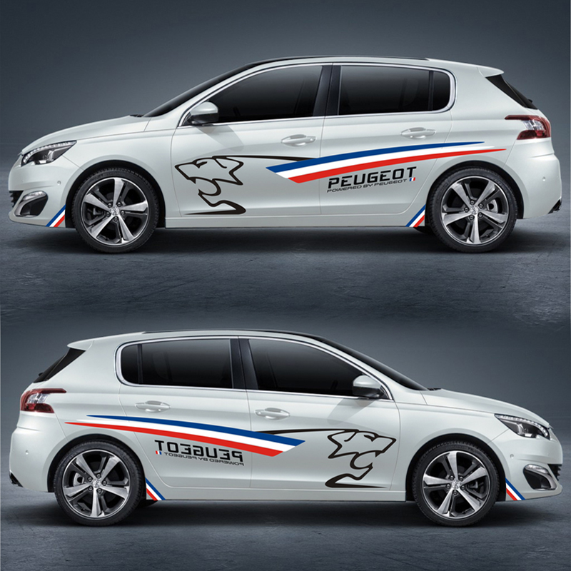 TAIYAO car styling sport car sticker For Peugeot 207 BRZ 301 308S 408 508 2008 3008GT