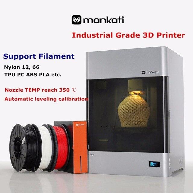 Fully Automatic Calibration Mankati E180 Industrial 3D Printer Nozzle TEMP Reach 350 Degrees Celsius Print Nylon TPU PC ABS Etc