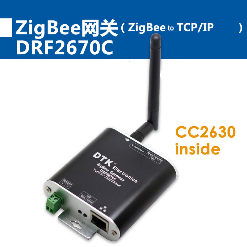 ZigBee Gateway  ZigBee to TCP/IP Ports Module  Built in CC2630 Chip  Far More than CC2530 Air Conditioner Parts     - title=