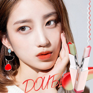 Image 4 - 8 Color Gradient Color Korean Bite Lipstick V Cutting Two Tone Tint Silky Moisturzing Nourishing Lipsticks Balm Lip Cosmetic New