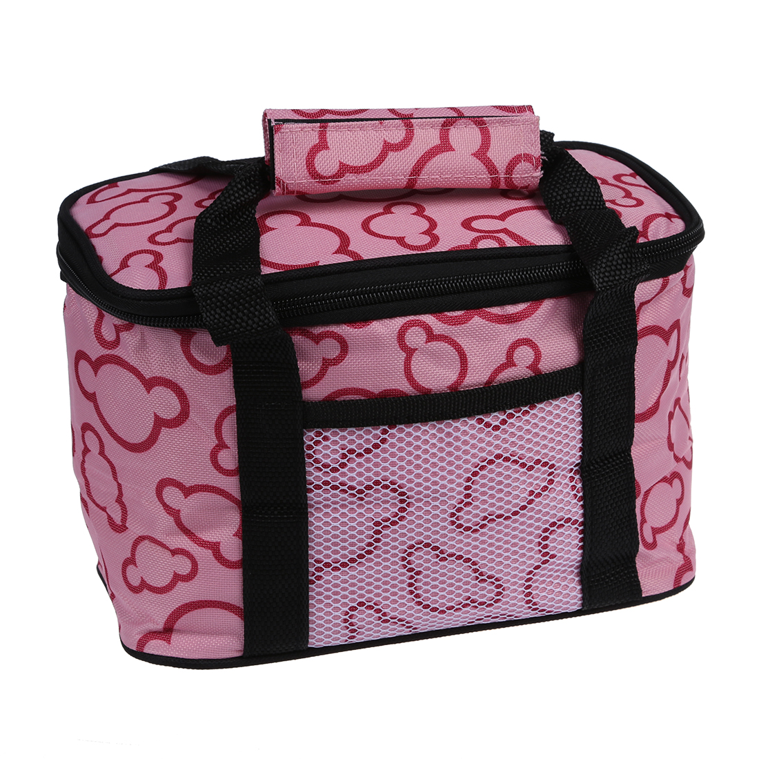 Insulated and Water-Proof Lining Lunch Box Bag Cooler Tote Bag--Pink