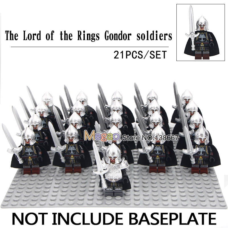 LOTR Gondor Infantry Army 21pc Lot Set USA SELLER