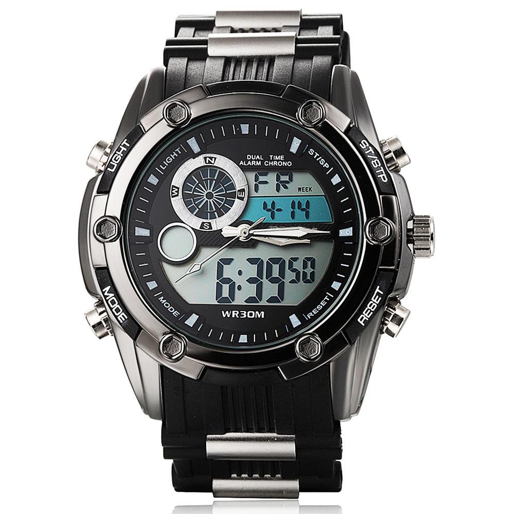 أعلى ماركة الساعات الرجال الفاخرة الرياضة الرجال الرقمية led ووتش reloj هومبر ذكر ساعة اليد الجيش العسكرية relogio masculino 2016