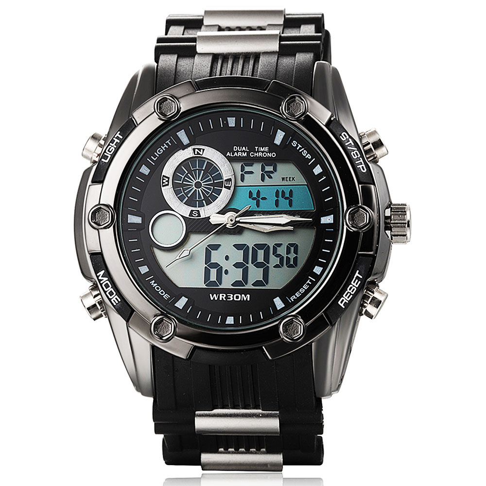 8d0993f3a60b Top relojes hombres lujo marca Sport hombres reloj llevado digital del reloj  hombre reloj ejército Militar reloj Relogio Masculino 2016 envío gratuito  en ...