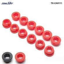 Автомобильный Стайлинг 12 шт./лот нижний рычаг управления Задний Развал втулка комплект красный/черный EP-CA0111