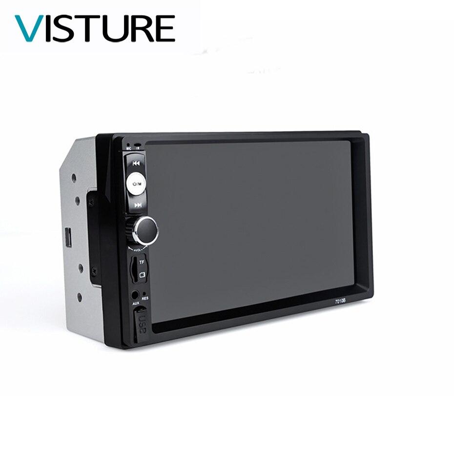 Авторадио 7 дюймов автомобиля радио MP5 плеер Авто bluetooth стерео поддерживает заднего вида Камера <font><b>USB</b></font> зарядка 2 DIN touch Экран V7010B
