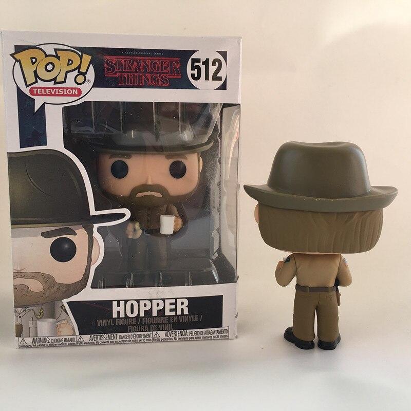 Funko POP Stranger things & HOPPER 512 PVC Action Figure Collection model toys birthday Gift 1