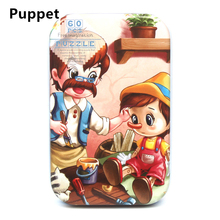 60pcs/set Wooden Puzzle Cartoon 3D Wood Jigsaw Toys for Children Early Educational Montessori Dropshipping