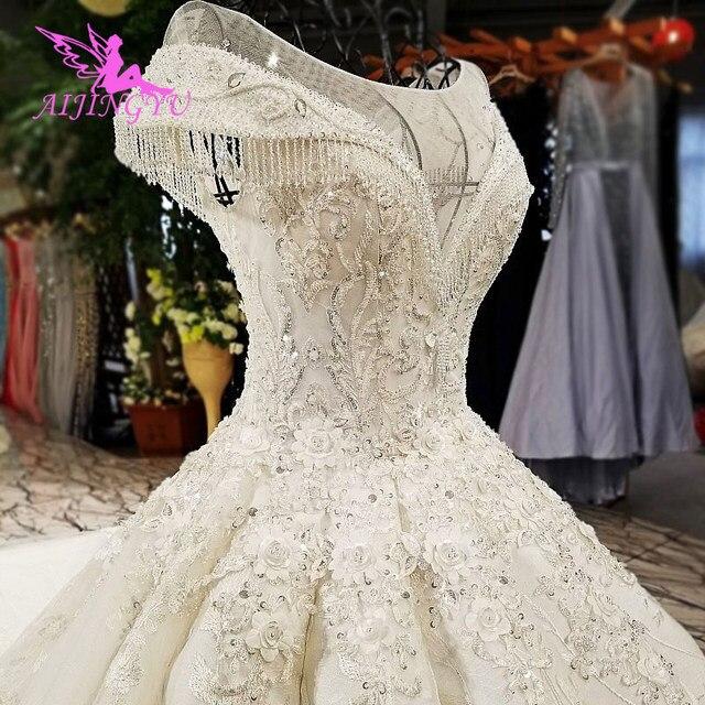 AIJINGYU vestido para boda Egipto largo cola bola colores Popular Corea vestidos italianos cinturón para vestido de bodas