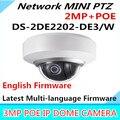 Wholesale English Version MINI PTZ Dome DS-2DE2202-DE/W Network MINI PTZ Dome Camera 2.0 megapixel POE
