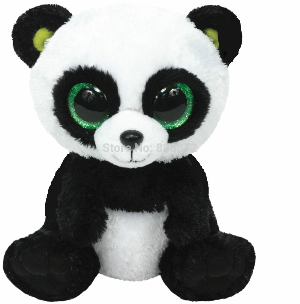 Ty Plush Animals Beanie Boos Large Stuffed Panda Bear Plush Toys