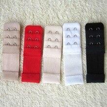 3 Row 2 Hooks Stainless Steel Elastic Bra Extender Free Underwear Extended Buckle 4 Hook Adjustable Women Bra Back Clasp 632301A