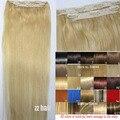 #613 o envio gratuito de 2 pçs/set conjunto cabeça cheia clipe em Brasileiro Virgem remy extensões de cabelo humano 26 cores disponível