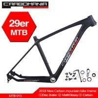 Cadre de VTT carbone carbomania 29er cadre de vélo vtt carbone chinois T800 cadre en fiber de carbone vélo 29 pouces cadre en carbone BSA