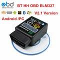 Low Price HH OBD ELM 327 V2.1 Bluetooth Scan Tool Vgate Mini ELM327 Car Diagnostic Scanner For Android Torque PC 12 Languages