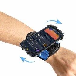 Спортивный чехол на руку SOONHUA для iPhone X 8 7, Универсальный вращающийся спортивный браслет для бега на запястье с держателем для ключей для тел...