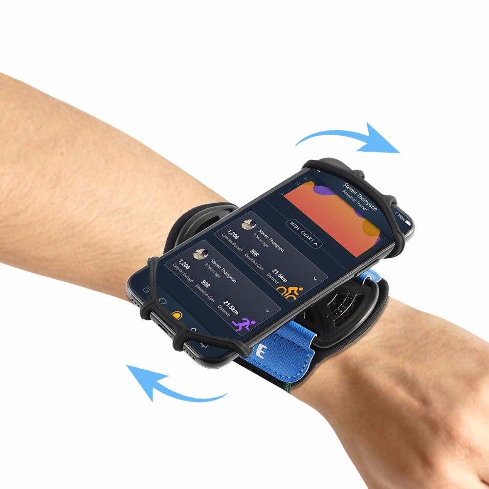 SOONHUA Sport Armband Fall für iPhone X 8 7 Universal Drehbare Handgelenk Sport-Arm-Band Mit Schlüssel Halter für 4-6 zoll Telefon