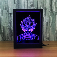 Animation photo frame Seven Dragon Ball Spider and Queen 3D photo frame lamp Colorful remote control touch creative product Z96