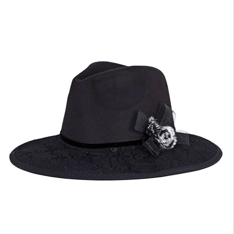 2017 Nuevo invierno Cloche pelo de visón jazz sombreros Fedora lana ... ec03e1a0469
