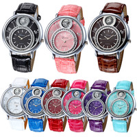 New Geneva Women Faux Leather Analog Quartz Wrist Watch Luxury Bracelet Women Watches Digital Relogio Feminino Montre Femme 2017