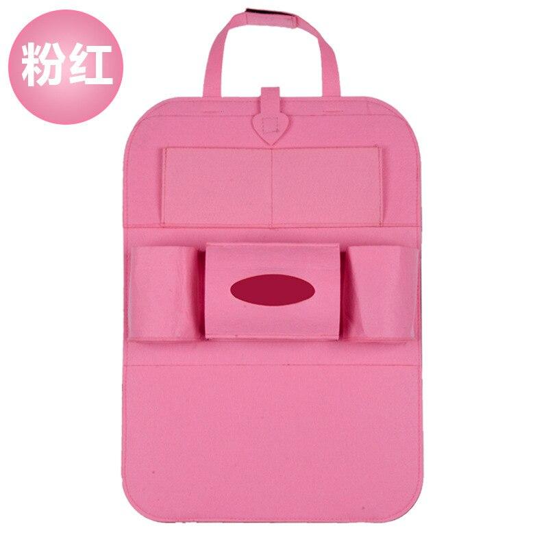 Дропшиппинг, чехлы для автомобиля, дизайн, модное автомобильное сиденье, для хранения, стильная многофункциональная сумка на заднюю часть, детское сиденье, для покупок, для автомобиля - Цвет: Ordinary pink