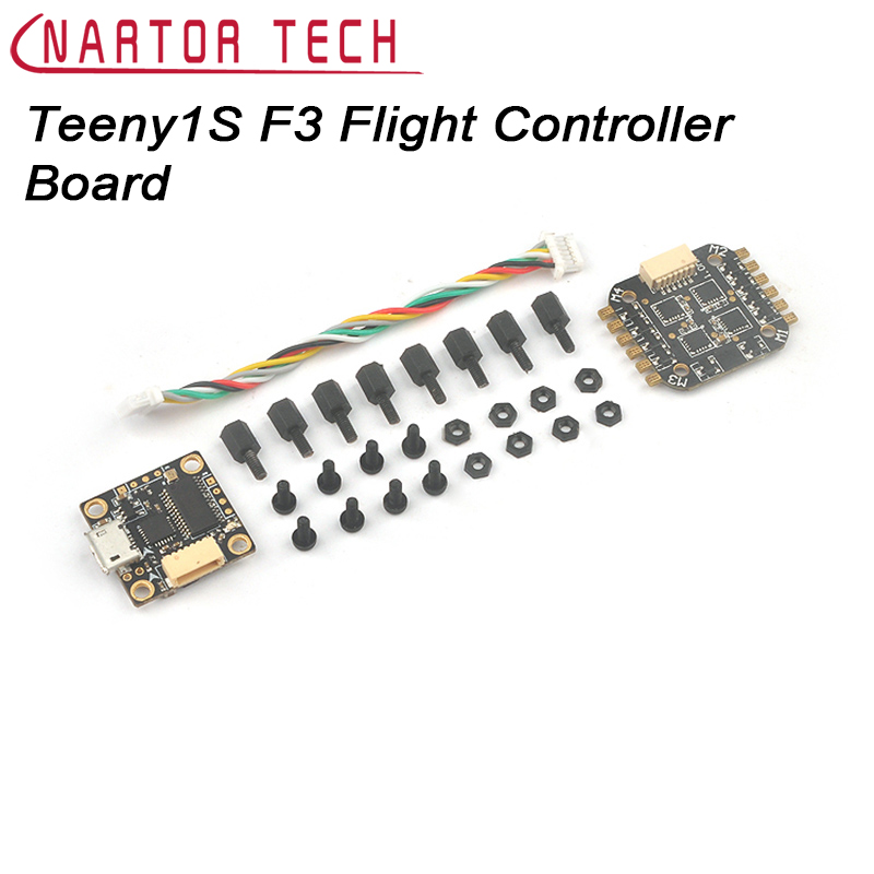 Teeny1S F3 Flight Controller Board Built-in Betaflight OSD 4 in 1 BLHeli_S ESC for FPV Quadcopter Drone matek f405 with osd betaflight stm32f405 flight control board osd for fpv racing drone quadcopter