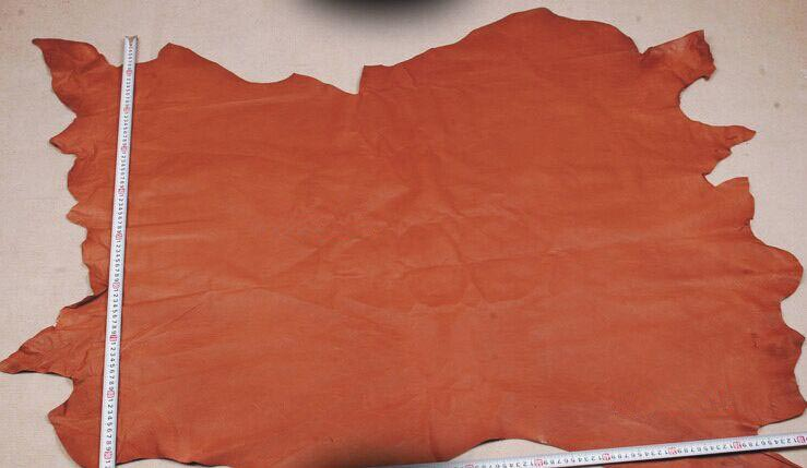 brown Genuine Pig grain skin leather material sale by whole piece