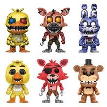 חמישה לילות פרדי של צעצועי PVC פעולה דמויות FNAF Chica בוני פוקסי Funtime פרדי Fazbear בובות סיוט דוב בובות מתנות