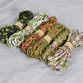 10m/Roll Cords Eco-Friendly Green Leaves Braided Hemp Rope DIY Hang Tag String Wedding Party Home Decoration Accessories