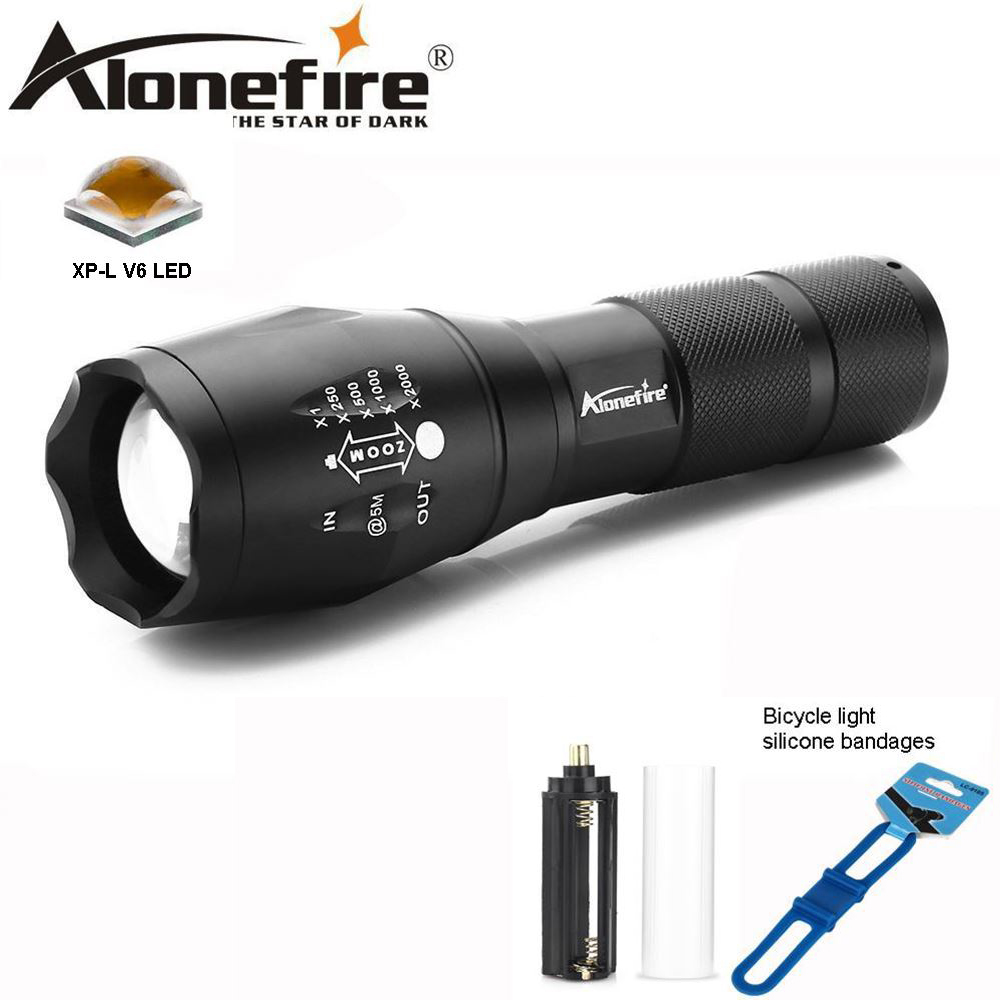 AloneFire E17 led flashlight 9000 Lumens Flashlight LED CREE XP-L V6 Torch Zoomable Flash Light Lamp Lighting For 18650 battery 5000lumnes usb cree xpe led flashlight zoomable flashlight torch flash light lamp lighting with usb charger battery