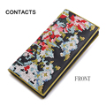 Luxury Brand Design Cross-stitch Cross embroidery  Real Leather Long Clutch Wallet for Women woman's Purse Card Holder