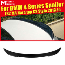 For BMW F82 F83 M4 420i 428i 430i 440i Hard top CS Style Carbon Fiber Rear Trunk Spoiler Tail Wing car styling Accessories 13-in