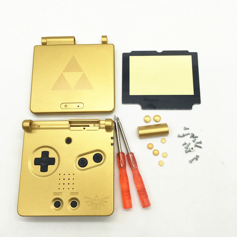 New Gold Zelda shell for Nintendo Game Boy Advance SP GBA Case/Casing/Shell/Housing Kit восток соловьева
