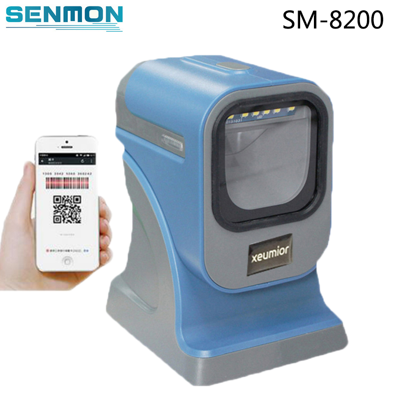 2D Desktop Flatbed QR Code Scanner USB PDF417 Barcode Reader Omnidirectional 2D Barcode Scanner Inventory