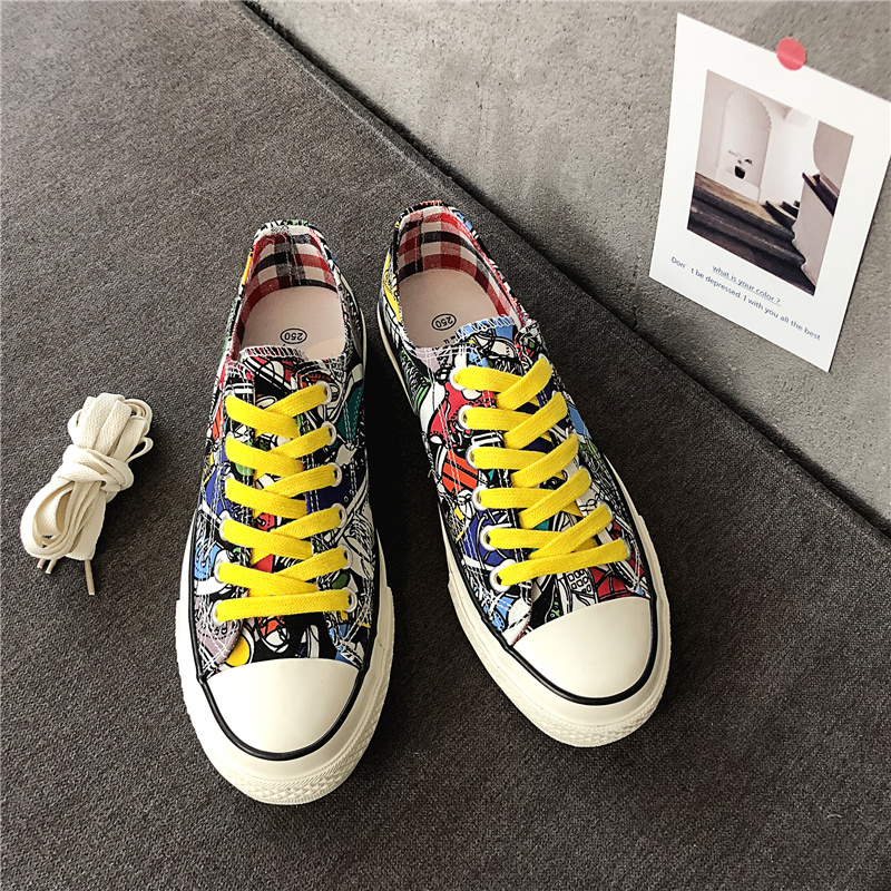 Painted Man Canvas Shoe Round Toe Fashion Loafers Outdoor Walking Shoes Super Lightweight Travel Shoes 2 15 15D50 in Men 39 s Casual Shoes from Shoes