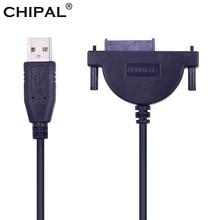 CHIPAL LED göstergesi USB 2.0 7 + 6 13Pin Mini SATA II kablo adaptörü dizüstü bilgisayar için CD ROM DVD ROM için HDD Caddy ince sürücü