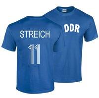 Gildan Joachim Streich S XXL T Shirt DDR Germany Footballer Fussball Rostock Magdeburg Classic Tops Tee