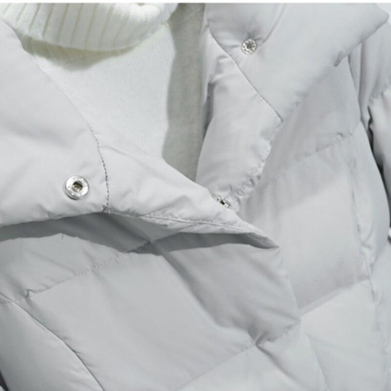 Genou Vers Blue 2019 De Fourrure pink Épaississement Renard Grand Nouveau Manteau Bas Luxe Grey Hiver Sur Survêtement long Mince Femmes Moyen Femelle Coton Laçage Le Chaud CvqxSCwT