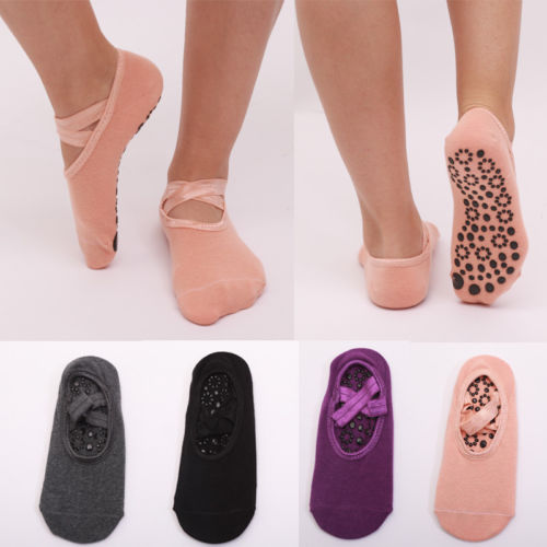 Women Bandage Cotton Socks Elactic Bandage Home Wear Shoes-Like Floor Sock Slippers Non Slip Skid Pilates Ballet Fits