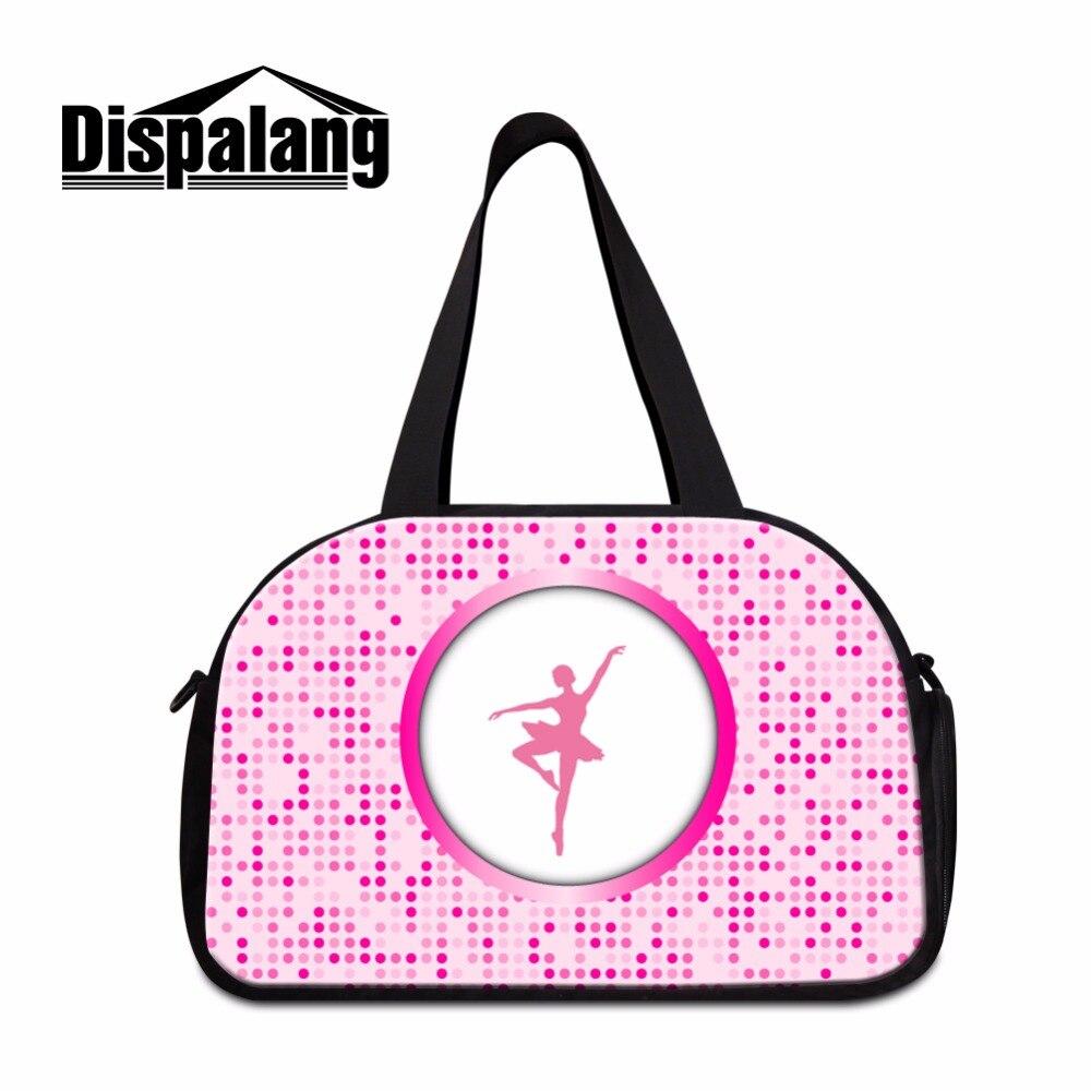 Dispalang Shoulder Travel Bag for Women Pink Ballet Girls Large Duffle Bag Sporty Bag for Teenagers Art Tourist Bag for Women