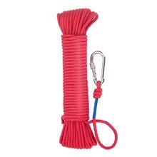 Corda magnética de 20 metros, corda trançada de nylon com fechamento seguro diâmetro 6mm seguro e durável