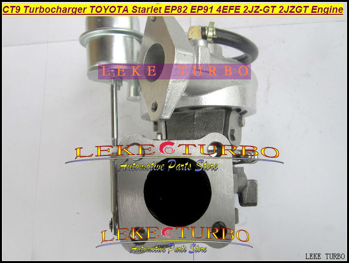 Free Ship BEST CT9 Turbo Turbine Turbocharger For TOYOTA STARLET EP82 EP91 4EFE 2JZ-GT 2JZGT 2JZ GTE Engine Water Cooled NEW free ship turbo rhf5 8973737771 897373 7771 turbo turbine turbocharger for isuzu d max d max h warner 4ja1t 4ja1 t 4ja1 t engine
