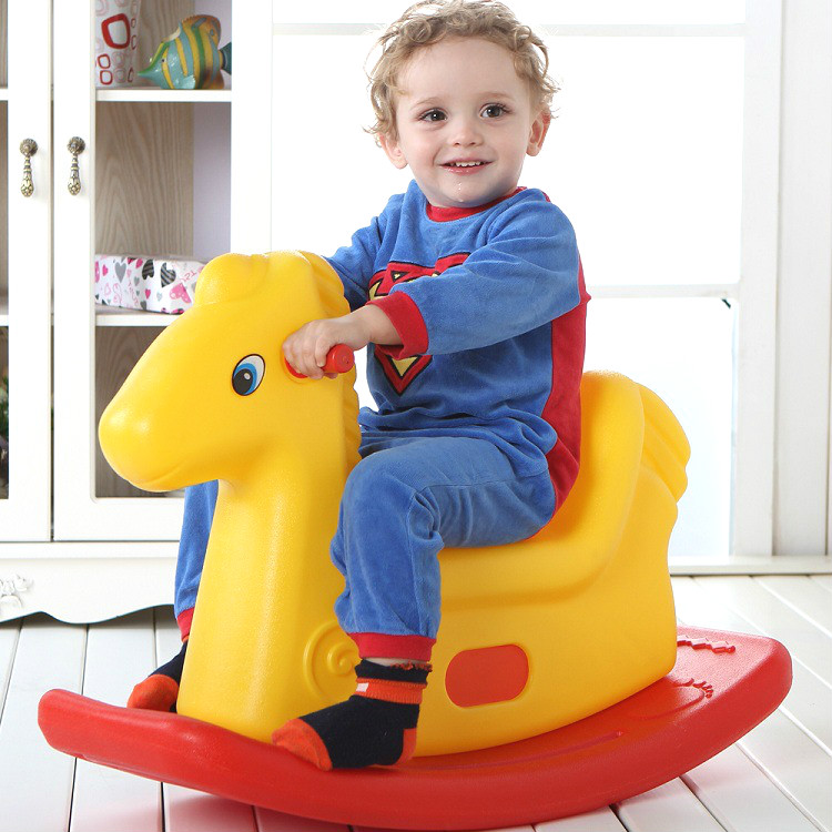 1 3 Years Old Children Rocking Horse Plastic Puzzle Baby