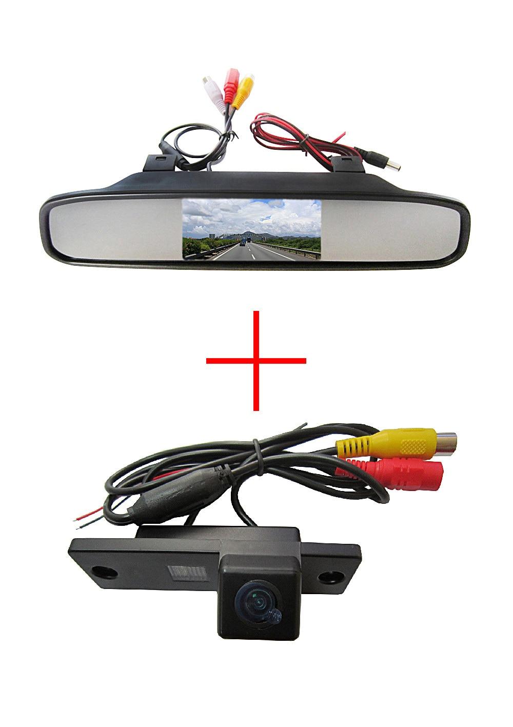 Sans fil WIFI CCD Caméra de Vue Arrière de Voiture pour Toyota 4runner/Land Cruiser Prado 2010, avec 4.3 Pouces Moniteur de Miroir de vue Arrière