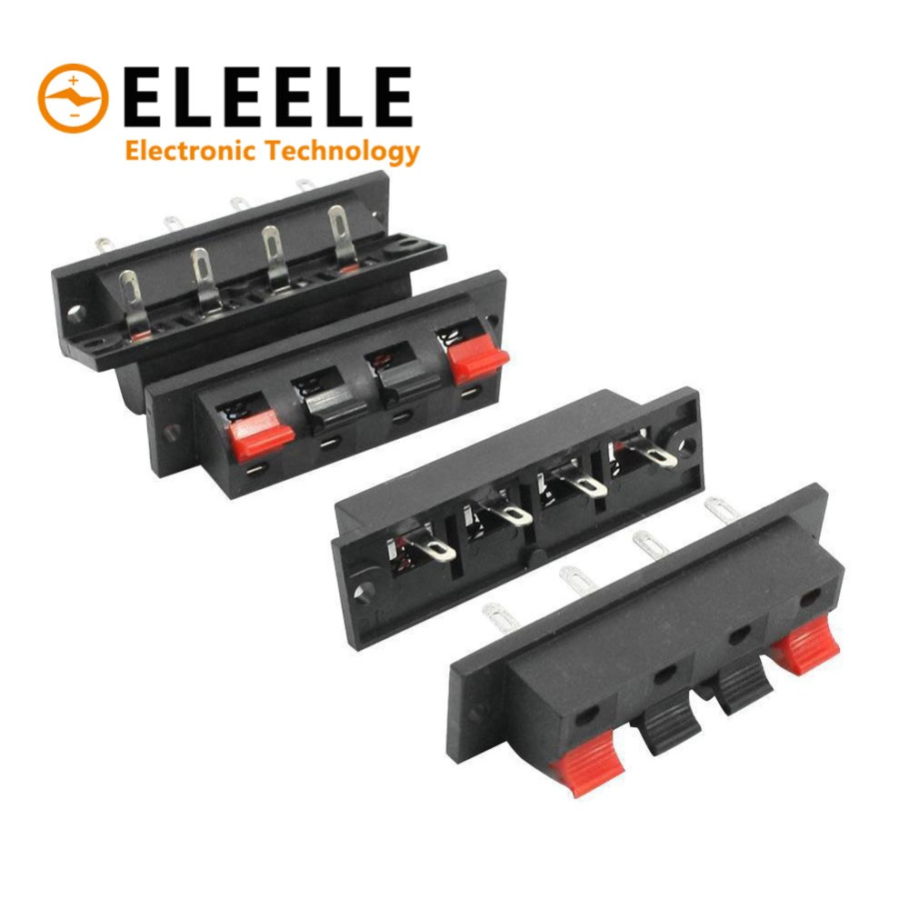 hight resolution of  feedback questions about hot 5 pcs 2 4 positions connector terminal push in jack spring load audio speaker terminals breadboard clip ac 50v 3a pn35