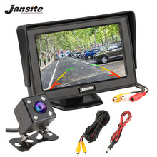 Jansite 4.3 Car monitor TFT LCD Car Rear View Monitor Parking Rearview System for Backup Reverse Camera Support VCD DVD Auto TV