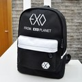 2017 EXO Bags Mixed Color Canvas Backpacks for Teenagers Rucksacks Girls Schoolbag Casual Travel Mochila